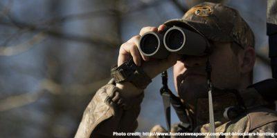 Bowhunting with binoculars - photo credit: http://www.huntersweaponry.com/best-binoculars-hunting-reviews/