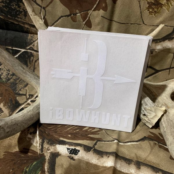 iBowhunt White Icon Decal