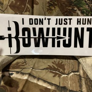 iBowhunt Tagline Logo Decal